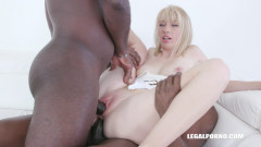 Alisia comes back to get fucked by two black guys